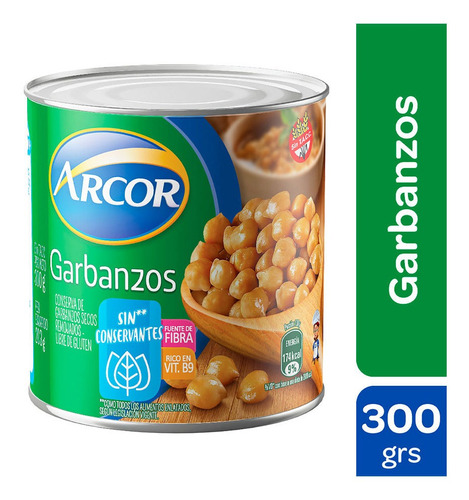 Garbanzos En Lata Arcor X 300 Gr