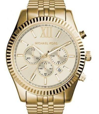 Relógio Michael Kors Masculino Dourado