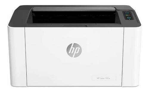 Impressora HP 107W com wifi branca e preta 110V