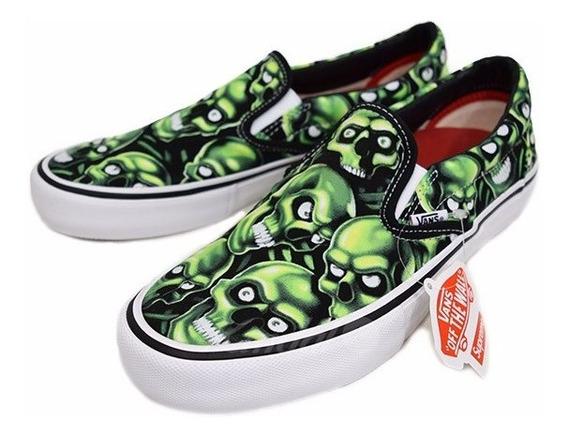### Vans Slip-on Supreme Skull Pile ###