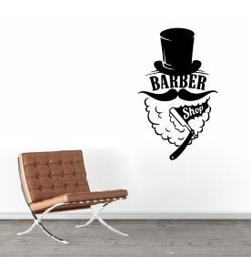 Adesivo Barber Shop - Barbearia