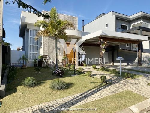 Casa Com Piscina E Espaço Gourmet No Condomínio Terras De Atibaia I - Atibaia/sp - Ca0148