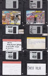 Diskettes 3,5 Pulgadas Usados Lote De 30 Unidades