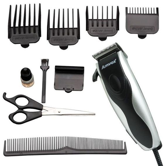 Máquina Cortar Cabelo Elétrica Aparar Barba Pezinho 4 Pente