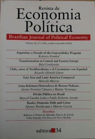 Revista De Economia Política Vol. 22 Nº4 Roberto Frenkel /