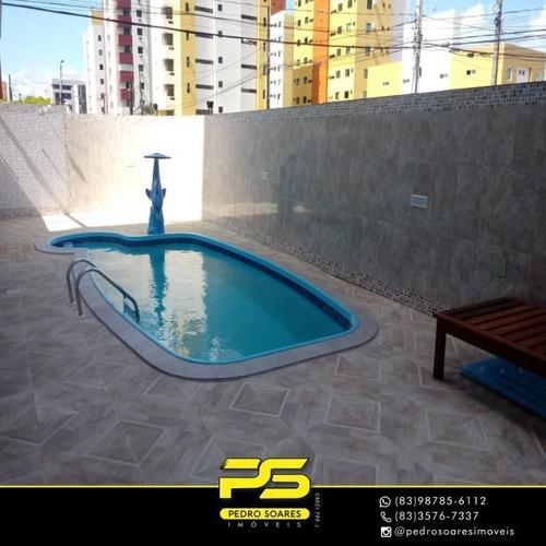 Apartamento Com 3 Dormitórios À Venda, 83 M² Por R$ 355.000 - Bessa - João Pessoa/pb - Ap3475