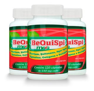 Emagrecedor Bequispi Mais - 3x 120 Cápsulas - Promel