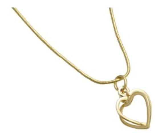 Pingente Corações Vazados Entrelaçados Rommanel 540943