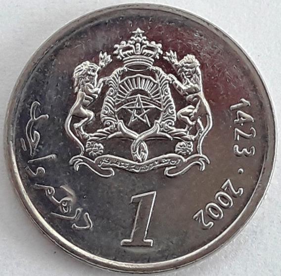 Marruecos 1 Dirham Año 1423 (2002) Mohammed Vi Sin Circular