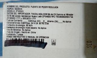 Fuente De Alimentacion 24 Vca 3 Amps