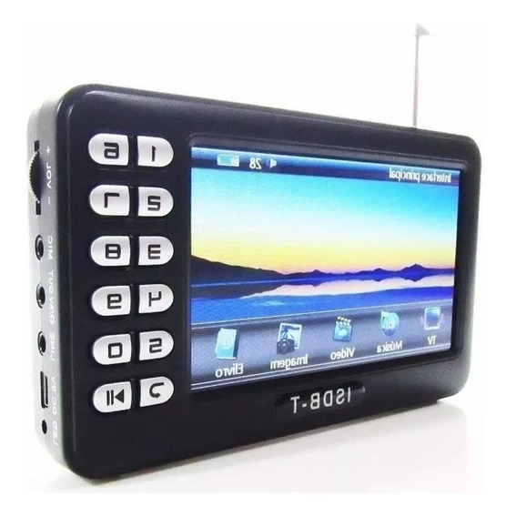 Tv Digital Portatil 4.3 Micro Sd Video Pendrive Radio Fm E9