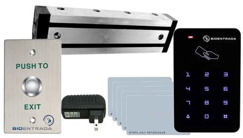 Combo Control Acceso   Tarjetas   Electroimán 300lb   Botón