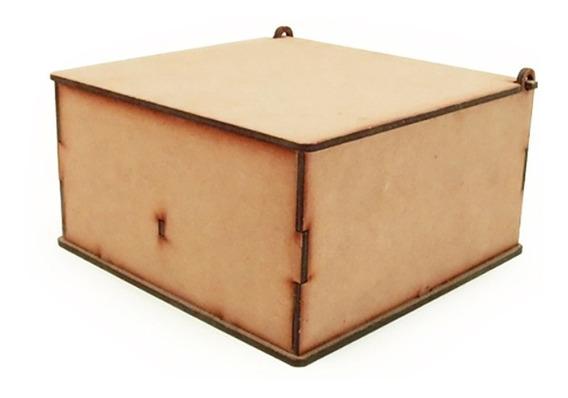 Caja De Té 4 Divisiones Tapa Lisa Corte Laser X12 Oferta!