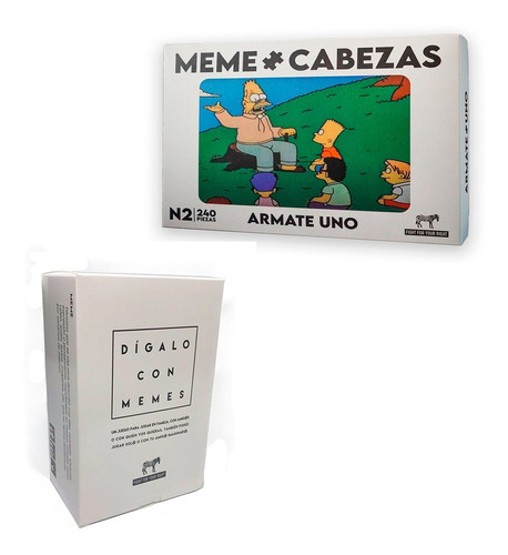 Imagen 1 de 9 de Dígalo Con Memes Memecabeza Abraham Fight Carta Rompecabezas