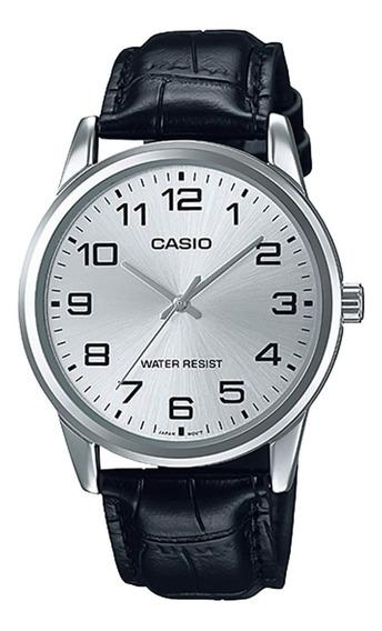 Relógio Casio Mtp-v001l-7budf Padrão Masc Prata - Refinado