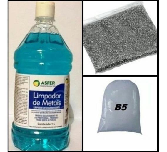 Kit Limpeza Polimento 1 Lentilha 2 Shampoo E 2 Pó B5 Joias