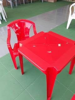 5 Jogos De Mesas C/20 Cadeiras Sup 154kg Plástico