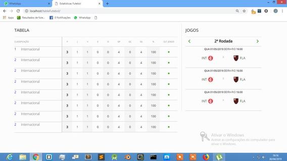 Script Tabela Futebol