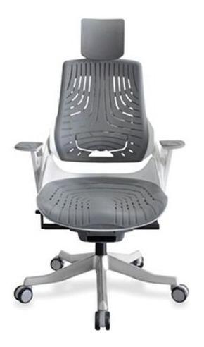 Cadeira Escritório Wau Super Ergonomica Branca Elastomero Cz