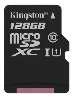 Cartão de memória microSDXC Kingston SDC10G2 128GB