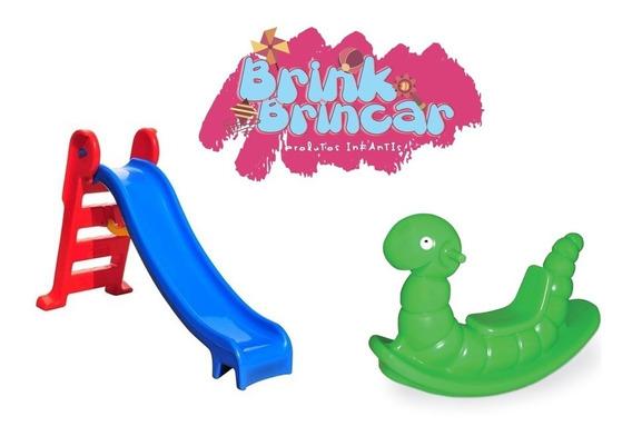 Escorregador Infantil Playground Médio +nhoca