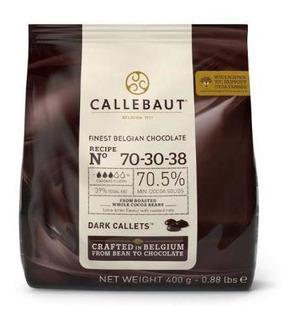Chocolate Belga Amargo 70-30-38 (70,5% Cacau) - Gotas 400 Gr