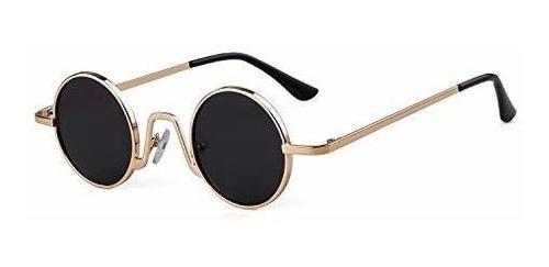 Gafas De Sol Redondas Pequeñas Retro Sorvino Para Hombres, M