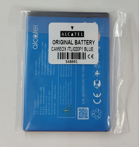 Batería Alcatel Cameox / Tl102f1 Original Supereconomica