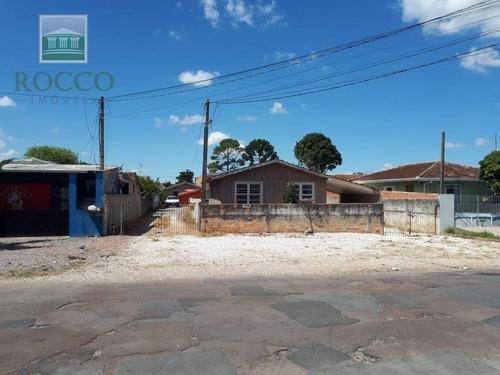 Terreno À Venda, 770 M² Por R$ 600.000,00 - Boqueirão - Curitiba/pr - Te0042