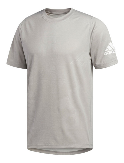 adidas Remera M/c Running Hombre Daily Press Tee Gris