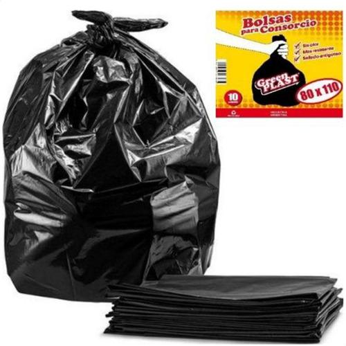 Imagen 1 de 8 de Bolsas Residuos Basura Negras Consorcio Resistentes