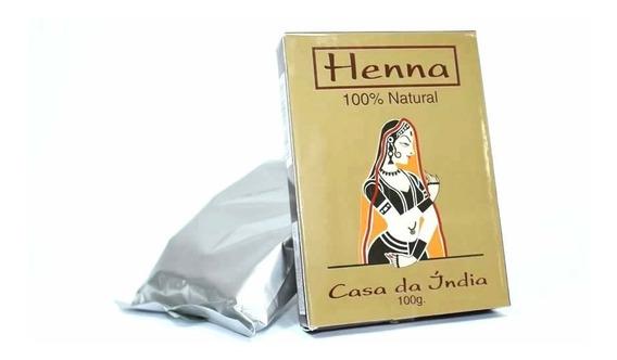 Henna Indiana 100% Natural Ruivo Cabelo 100g +grátis Luvas