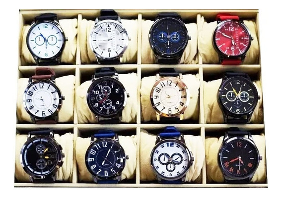 Promoção 20 Relógios Masculino Atacado Revenda Lote + Caixa