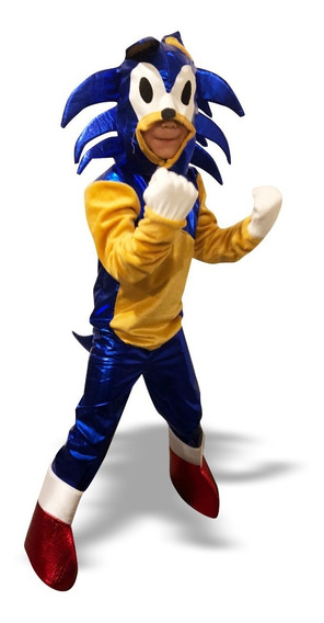Disfraz Sonic Niño Talla 10 Y 12
