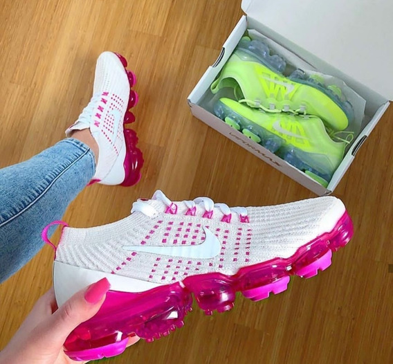 Nike Vapormax Dr Mujer Beig Fucsia