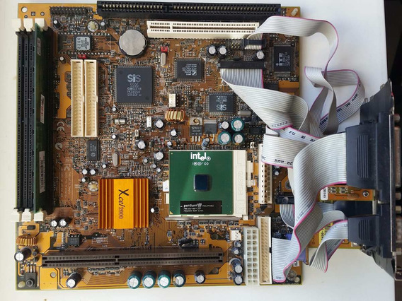 Kit Placa Mãe M748lmrt + Pentium 3 700mhz + 128m Sdram