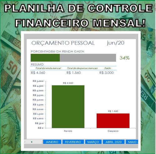 Planilha De Controle Financeiro Pessoal E Familiar