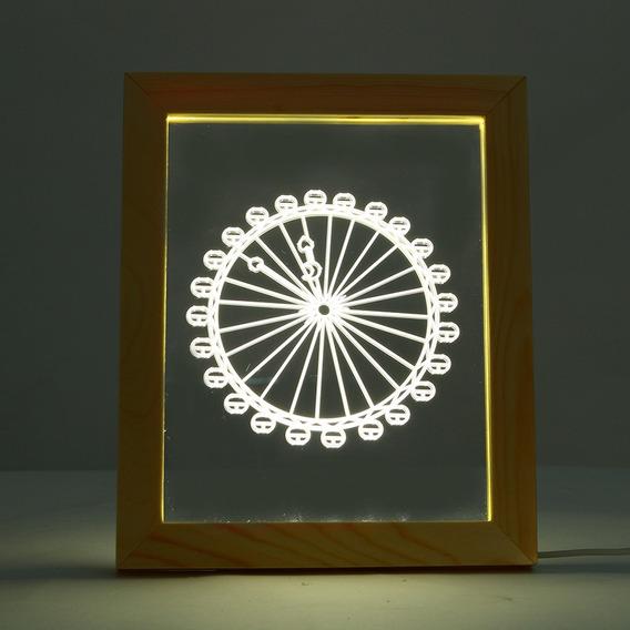 Kcasa Fl 719 3d Foto Quadro Iluminante Led Luz Noite De Made