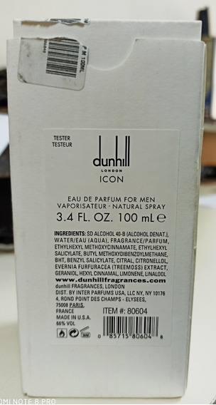 Perfume Dunhill London Icon Masculino 100ml Edp Tester