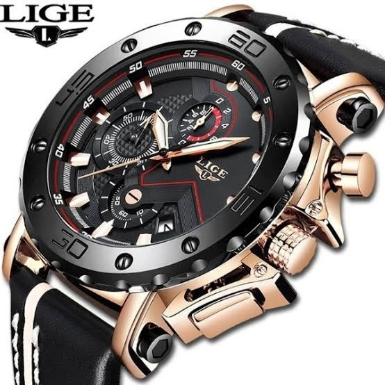 Relógio Masculino Original Lige 9899 Luxo Com Caixa