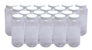 Envase Tarro Frasco Plástico Pet 1 Litro 20 Pzs Incluye Tapa