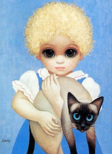 Poster 55x75cm M. Keane Grandes Olhos #4 - Para Decorar Sala