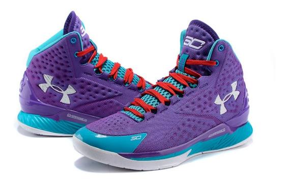 Zapatillas Basket Under Armour Curry 1 Purple + Obsequio