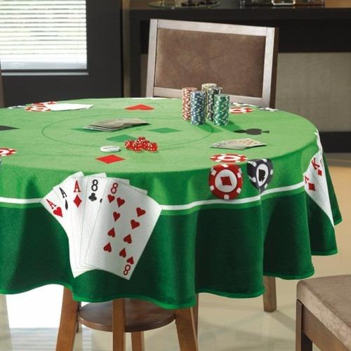 Toalha De Mesa P/ Jogos Cartas Poker Truco Baralho Redonda