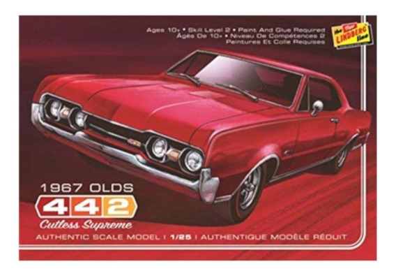 Oldsmobile 442 1967 Cutless Supreme [1:25] Lindberg Hl127/12