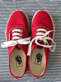 Tênis Vans Vermelho Tam 30, Us Kids 1.5, Usado Uma Única Vez