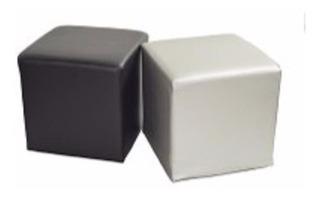 Puffs Tapizados Tela Ó Semi Cuero Modulares Modernos Sofás