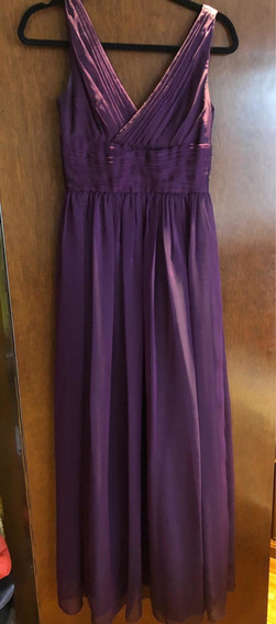 Vestido Largo Monique Lhuillier Color Morado Talla 0