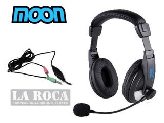 Auricular Moon Ma2750pcm Con Micrófono Para Sonido Y Pc