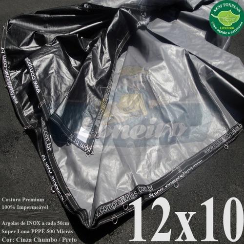 Lona 12x10 Branca Prata Lago Piscina Tanque Peixe 500 Micras